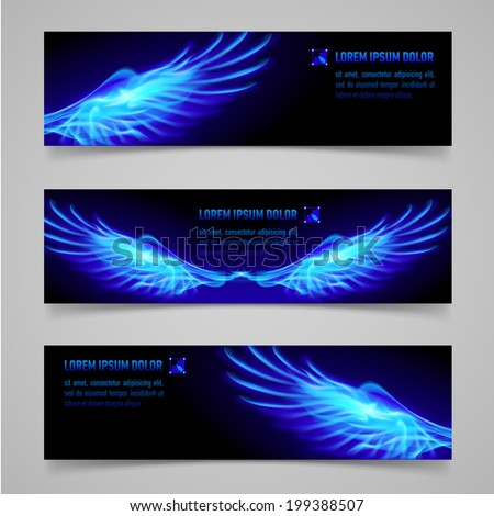 mystic banners with blue