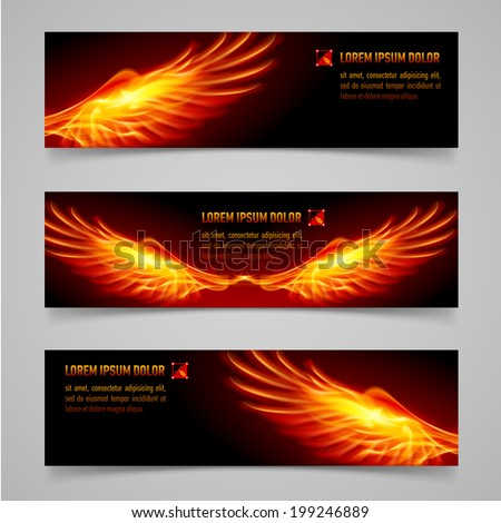 mystic banners with orange