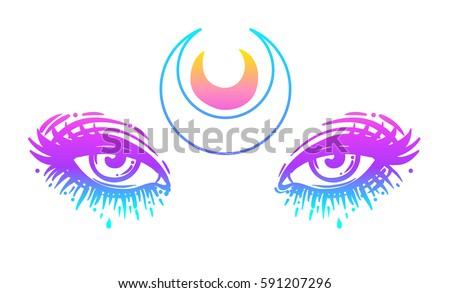 mystic eyes in anime or manga