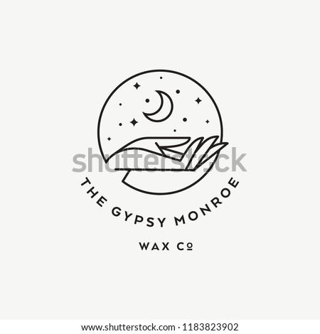 Mystic moon logo icon