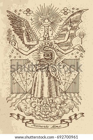 mystic or occult drawing of