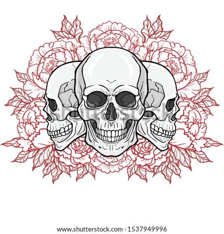 mystical drawing   three human