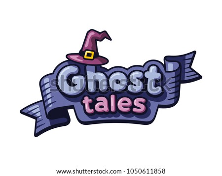 mystical logo template ghosts