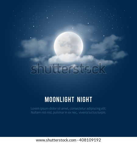 mystical night sky background