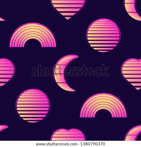 mystical seamless pattern with