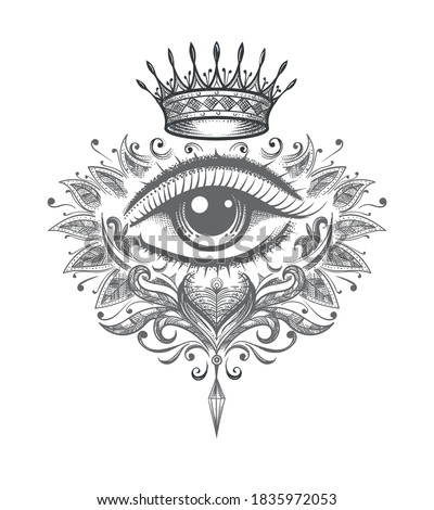 mystical tattoo of all seeing