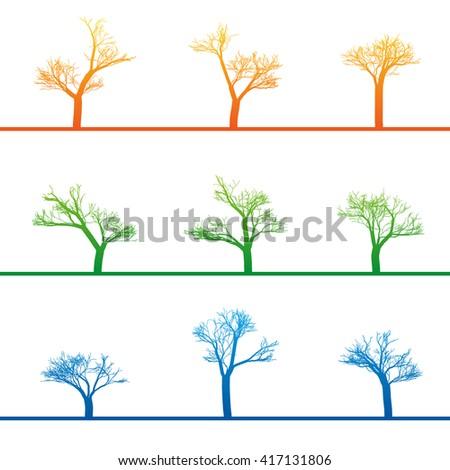 mystical trees grow various