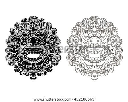 mythological god's masks