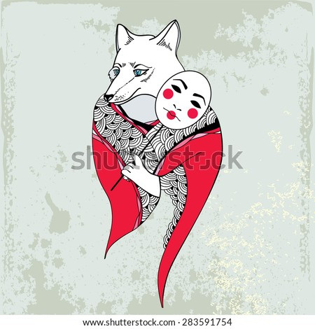 mythological kitsune mythical