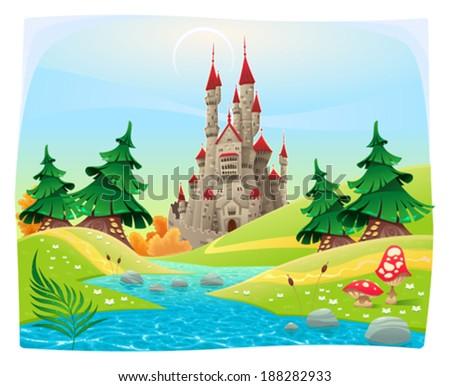 mythological landscape with