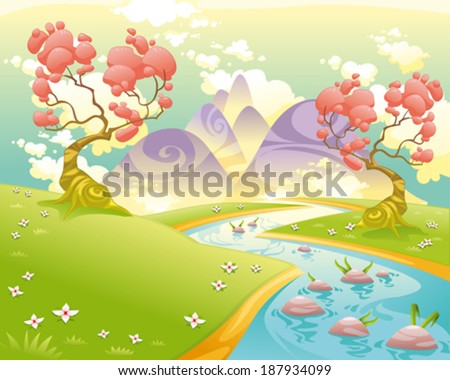 mythological landscape with