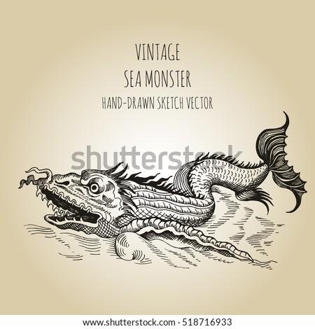 mythological vintage  monster