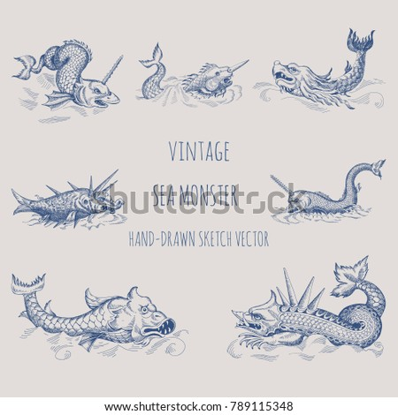 mythological vintage sea