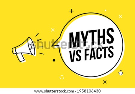Myths and facts logo vector megaphone background. Check fact truth fake concept Photo stock ©