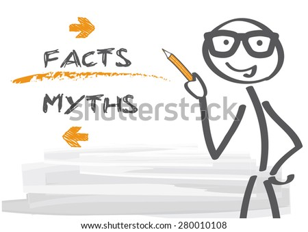 myths and facts   vector
