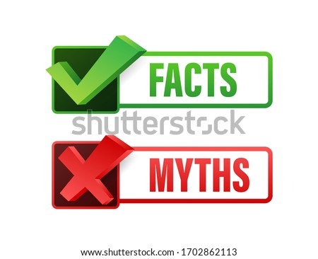 Myths facts. Facts, great design for any purposes. Vector stock illustration. Foto stock ©