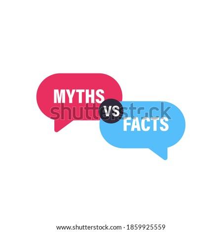 Myths vs Facts speech bubble concept design. Clipart image. Foto stock ©