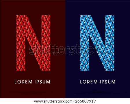 n  abstract font  concept hot