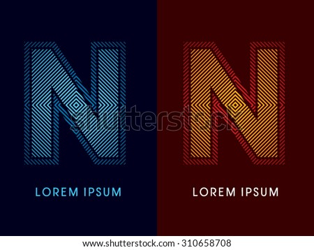 n  abstract luxury font