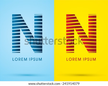 n alphabet  font  wave