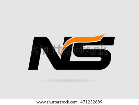 n and s logo vector logotype
