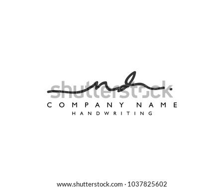N D Initial handwriting logo