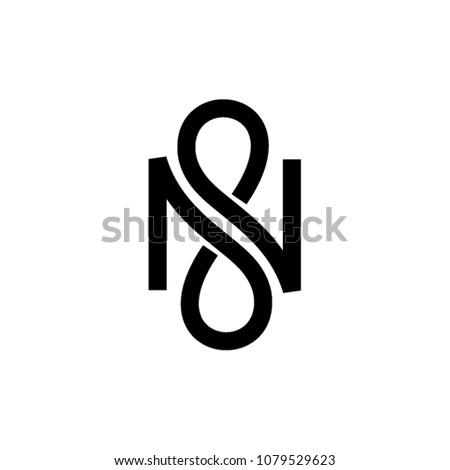 N infinity vector letter Stock fotó ©