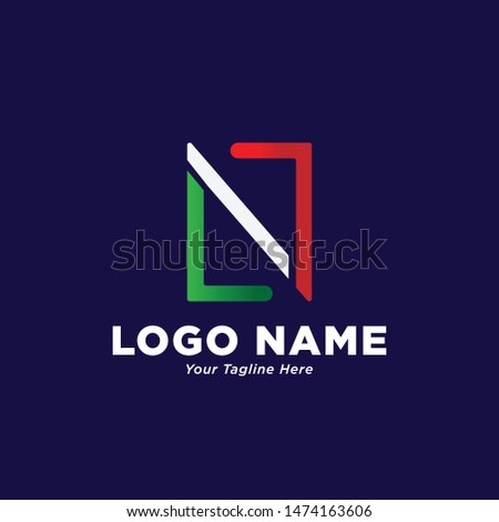 n italy logo design with