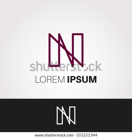 N Letter Abstract Vector Logo Design Template. Creative Typographic Concept Icon Foto stock ©