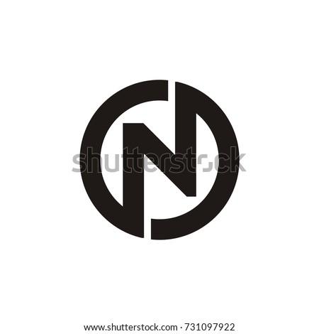 N letter linked. N letter circle logo. N O and O N letter. modern design.vector illustration Stock fotó ©