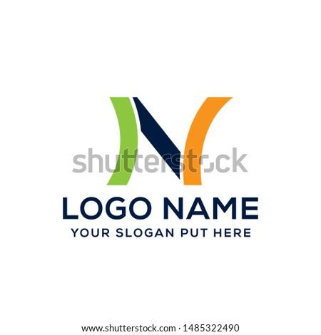 N Letter logo vector design template for use business Foto stock ©
