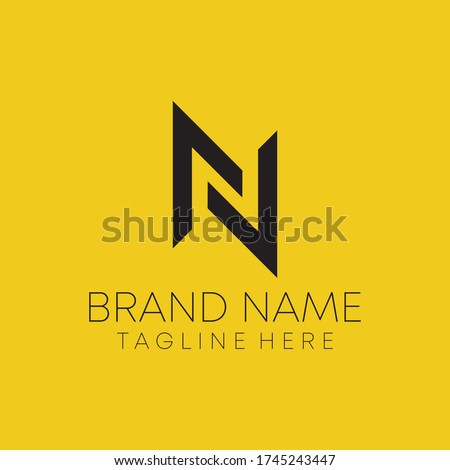 n letter real estate logo design. n letter logo design vector. Stock fotó ©