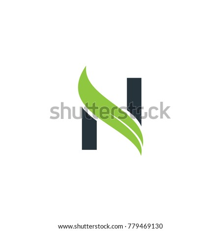 N logo with leaf element