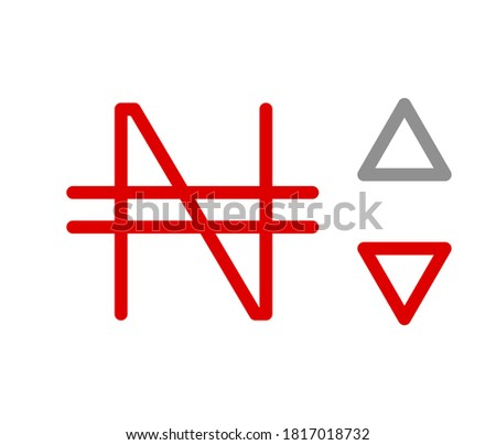 N, NGN, 566, Nairas, Nigeria Banking Currency icon typography logo banner set isolated on background. Abstract concept graphic element. Collection of currency symbols ISO 4217 signs used in country