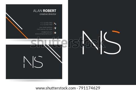 n   s joint logo stroke letter