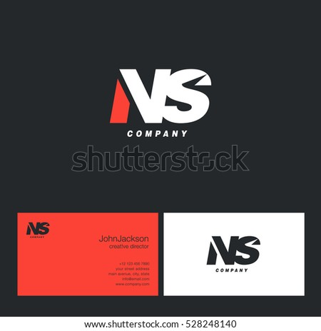 n   s letters logo with
