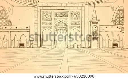 nabawi mosque building interior