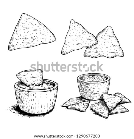 Nachos Popular Royalty Free Vectors