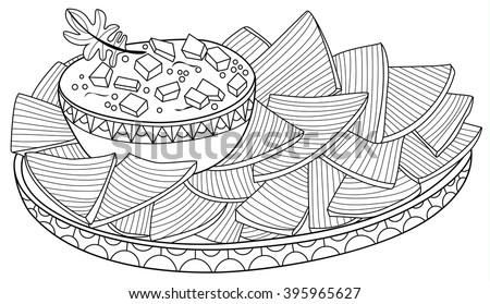 nachos zentangle