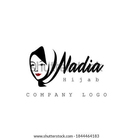 nadia hijabs company logo vector