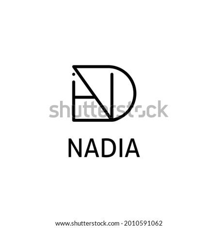 nadia's initials logo  simple