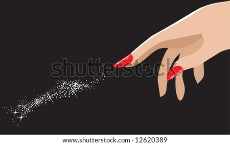 Nail Art Stock Vector 12620389 : Shutterstock