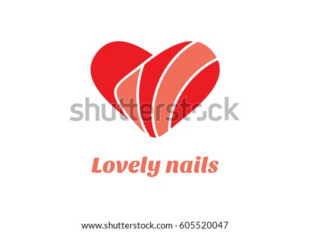 nail design heart symbol