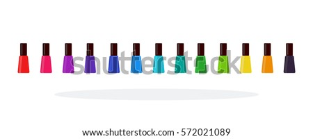 nail polish in a line vector