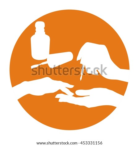 Nail polish vector icon, manicure