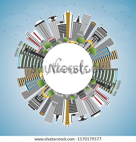 Nairobi Kenya City Skyline with Color Buildings, Blue Sky and Copy Space. Vector Illustration. Business Travel and Concept with Modern Architecture. Nairobi Cityscape with Landmarks.