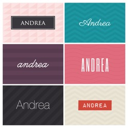 name andrea, graphic design elements