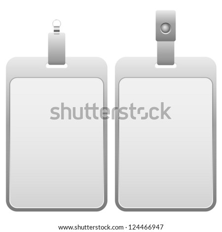 Name badge on a white background. Vector illustration.