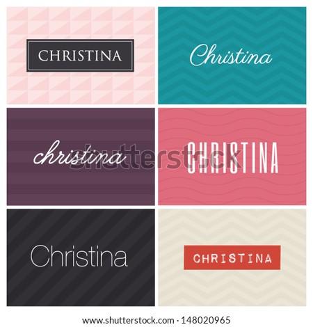 name christina  graphic design