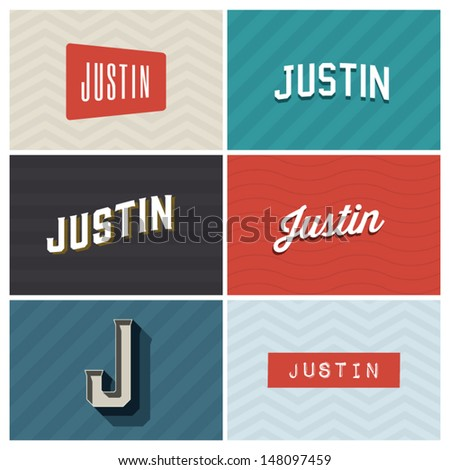 name justin  graphic design